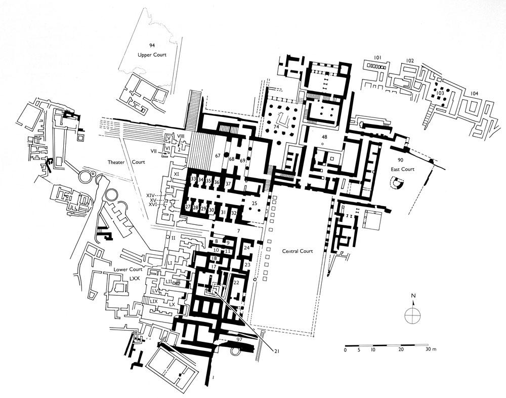 Phaistos plan -> Kuchnia Kaflowa Schemat Budowy